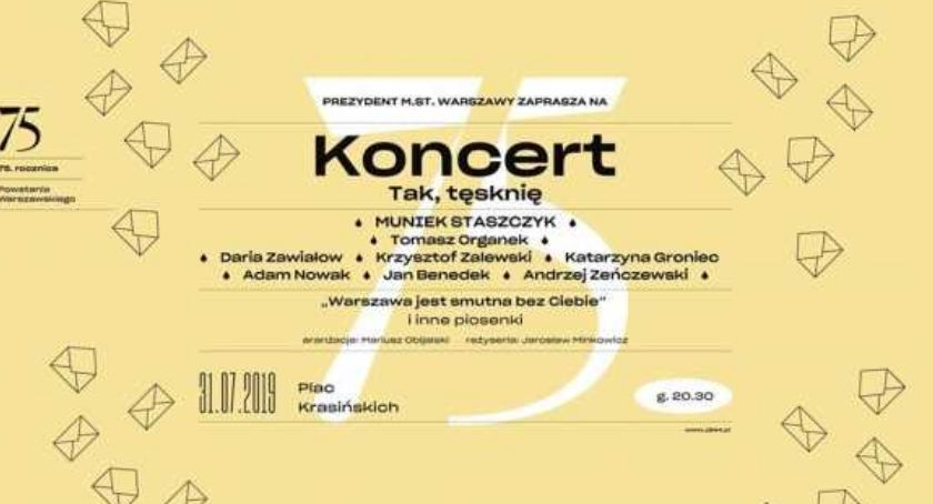 Będzie Koncert Tak Tęsknię Warszawa Wiowawpl