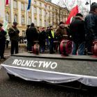 Protest rolników przed Kancelarią Premiera